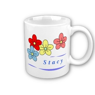 custom flower mugs