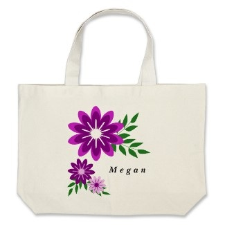 personalized flower tote bags