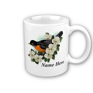 personalized bird mugs