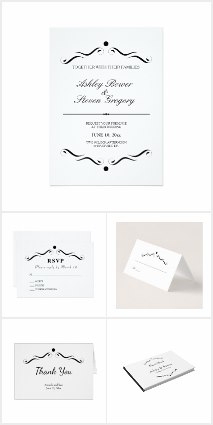 Classic white wedding invitations