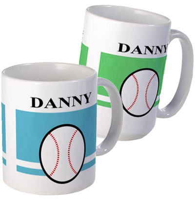 personalized baseball mugs