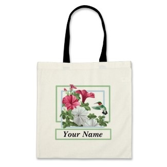 personalized hummingbird totebags