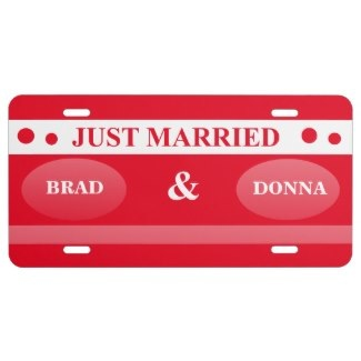 newlywed license plates