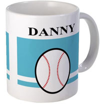 baseball mugs with names