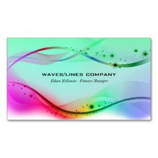 wavy lines business card designs