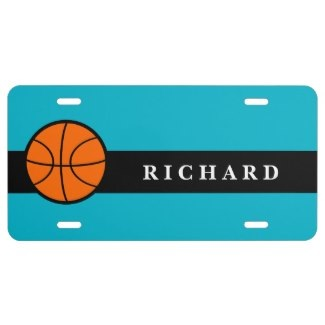 custom basketball license plates
