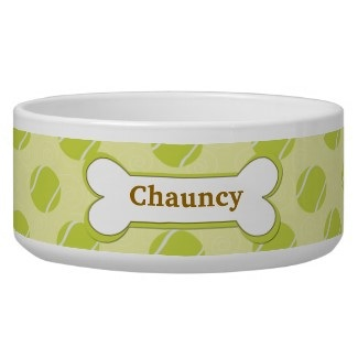 personalized pet bowl with bone design