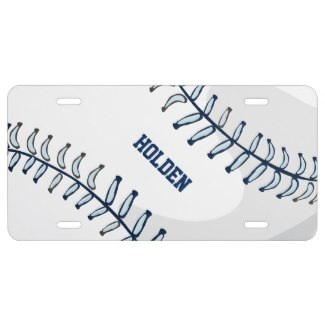 personalized baseball license plates