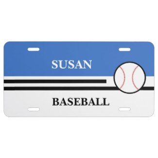 custom baseball license plates