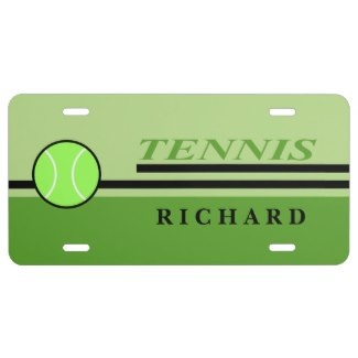 personalized tennis license plates