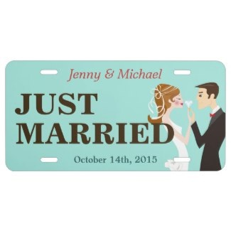 personalized just married license plates