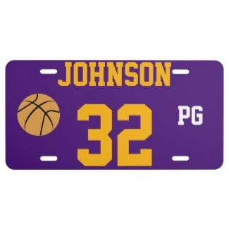 basketball license plates