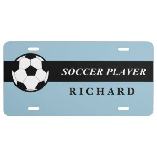 personalized soccer license plates