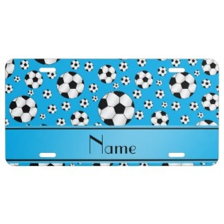 blue soccer license plates